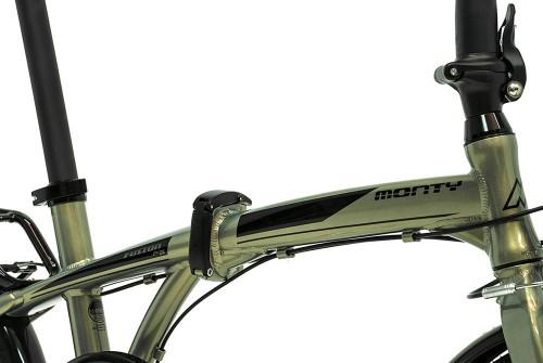 bicicleta plegable fusion monty cierres