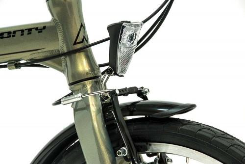 bicicleta plegable fusion monty luz delantera