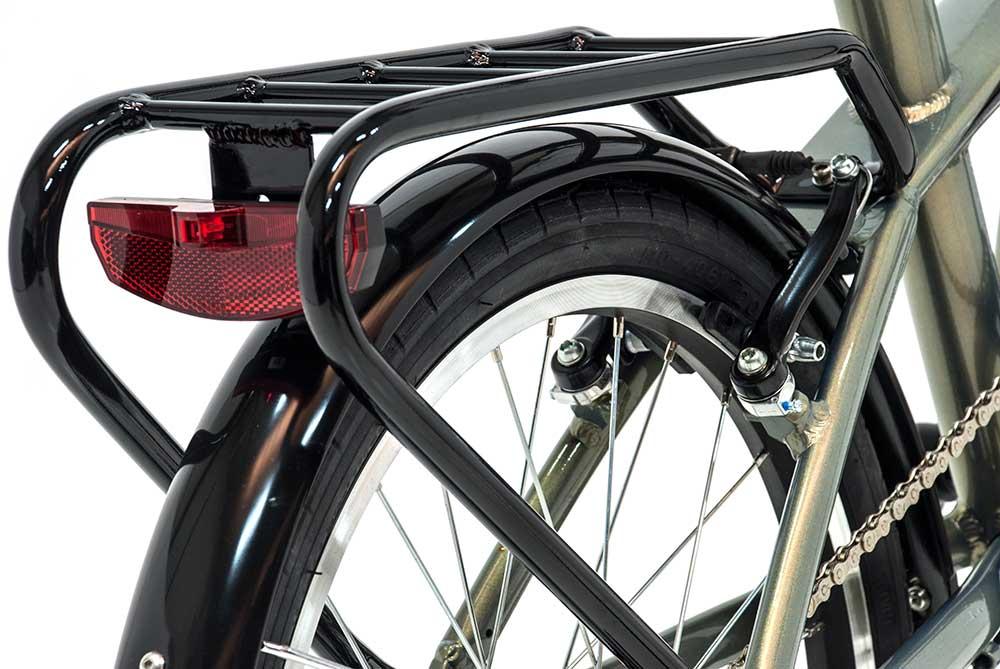 bicicleta plegable fusion monty luz trasera