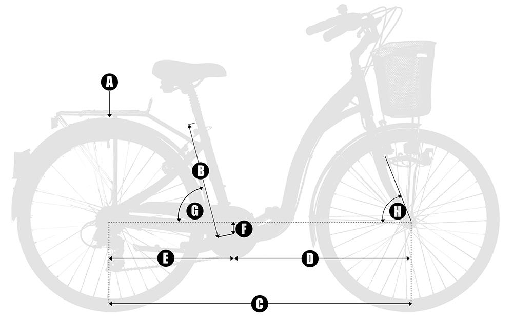 geometría bicicleta paseo