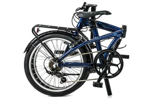 Bicicleta plegable Source Azul Oscuro | Plegada