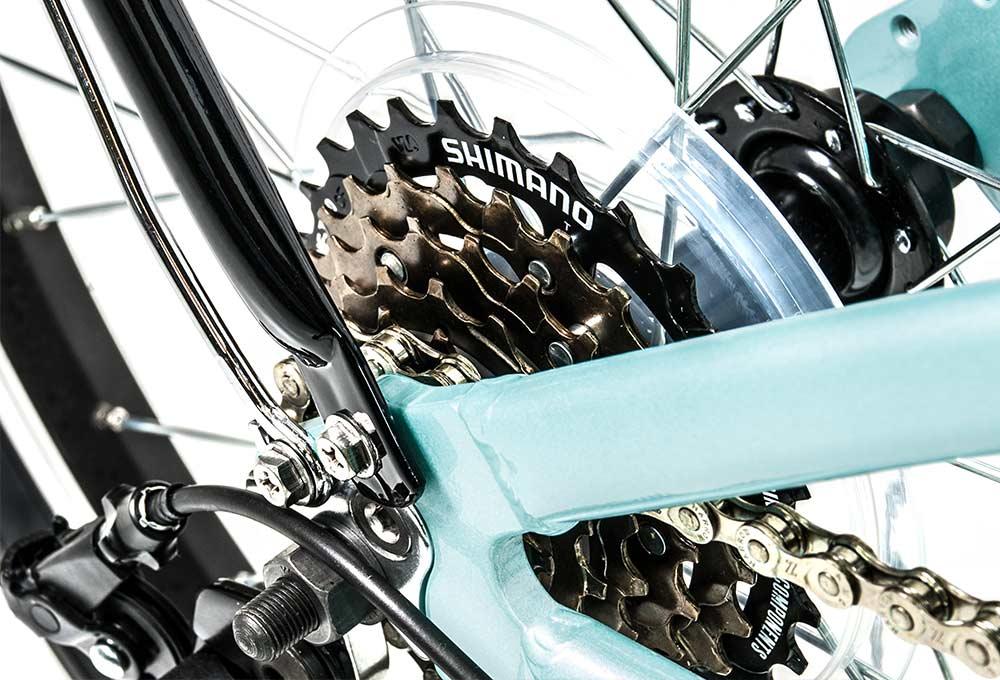 Bicicleta plegable Source Turquesa | Cambio