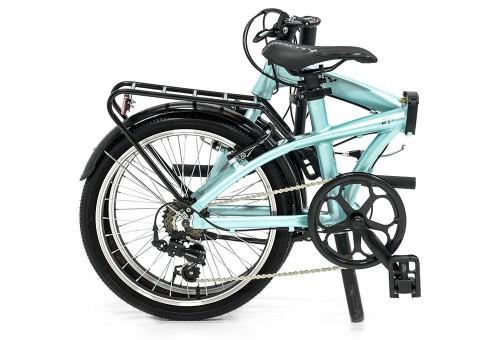 Bicicleta plegable Source Turquesa | Plegada
