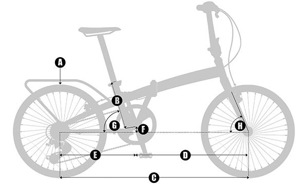 geometria bicicletas plegables