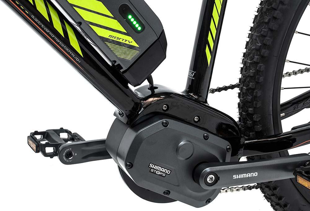 bicicleta eléctrica de montaña e-FFLUX motor y batería